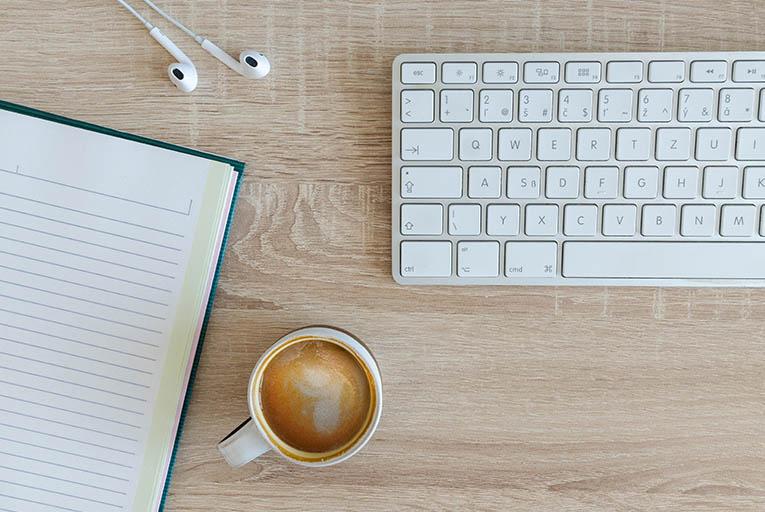 コーヒーとキーボード